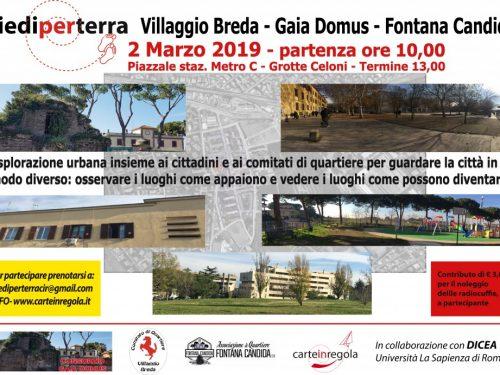 """""""Piedi per Terra"""" a Fontana Candida, Villaggio Breda e Gaia Domus"""
